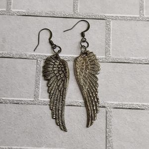 Jewelry - 💜$5 NEW Angel Wings earrings 2""